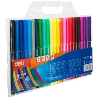 Hình ảnh Bút màu nước học sinh Deli, 1.0mm, 12 màu - 18 màu - 24 màu/hộp E37171-4