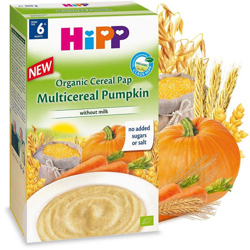 Bột Hipp ăn dặm Ngũ cốc Bí đỏ không sữa 6m 200g