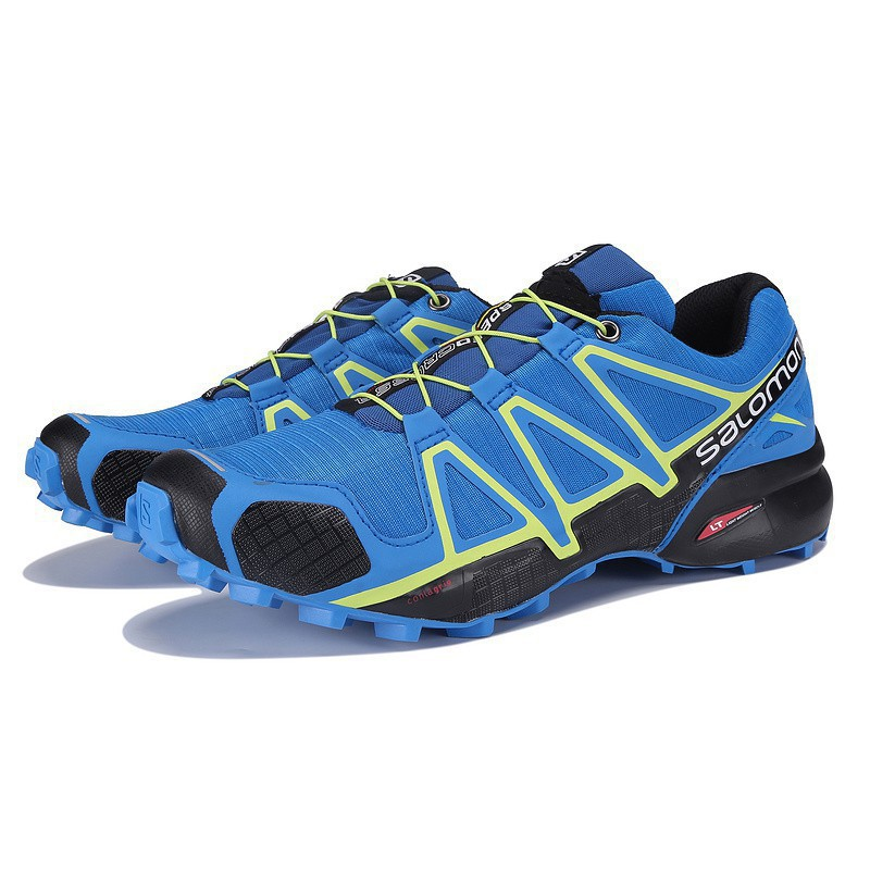 <BR> รองเท้าวิ่งผู้ชาย Salomon Speed Cross 4 สีน้ำเงิน