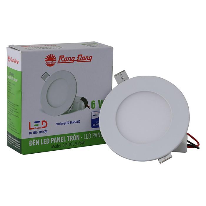 Đèn LED âm trần siêu mỏng 6W Rạng Đông D PT03L 90/6W