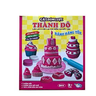 Bộ cát động lực nặn bánh sinh nhật độc đáo