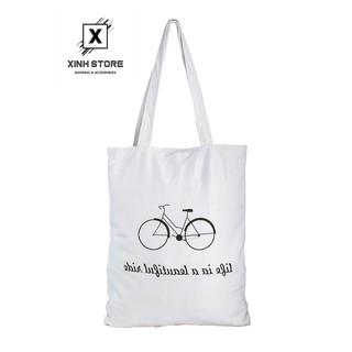 Túi Vải Đeo Vai Tote Bag Xe Đạp XinhStore thumbnail