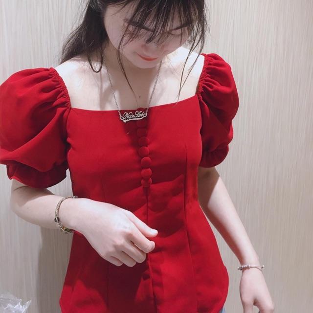 Áo thiết kế cổ có khoá sau lưng hàng vải loại 1 chiết eo cho các nàng tha hồ phối với quần hay chân váy đều đẹp xinh nhé