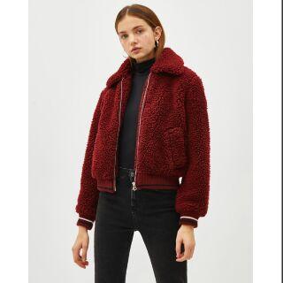 Áo khoác lông Bershka auth new 100% nguyên tag