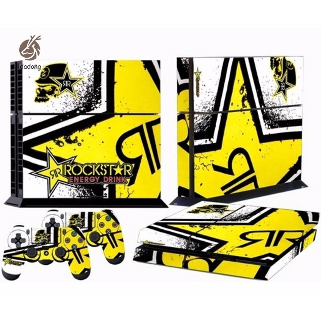 New Cool Star Custom Sticker for PS4 PlayStation 4 Console Controller Skins-Rockstar