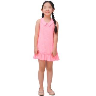 Váy bé gái Narsis KB0002 màu hồng chấm bi trắng