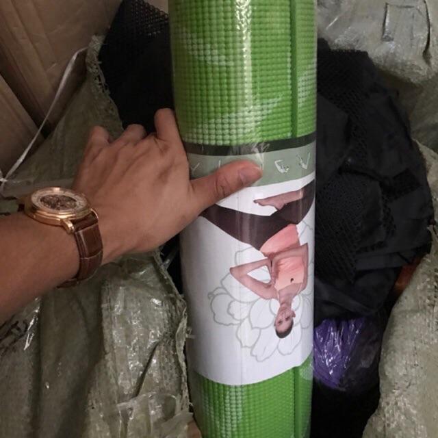 Thảm tập yoga hoa ( tặng kèm túi)