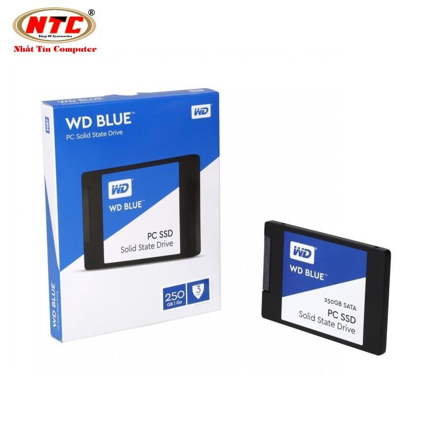 [Mã ELCLJAN giảm 7% đơn 500k]Ổ cứng SSD Western Digital Blue 3D-NAND SATA III 250GB WDS250G2B0A (Xanh)
