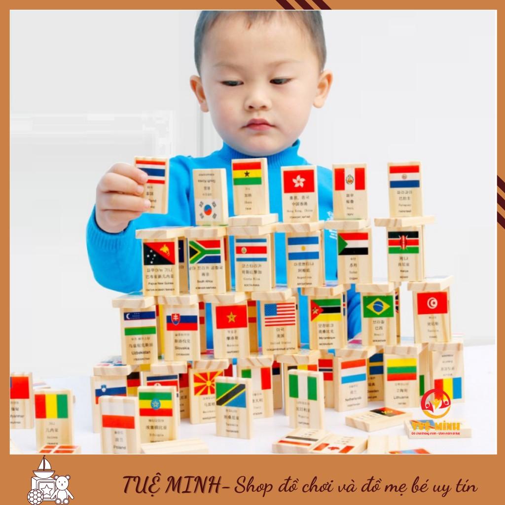 Bộ Cờ Domino Gỗ In Hình Quốc Kỳ Các Nước Giúp Bé Phân Biệt Quốc Kỳ Các Nước
