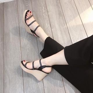 [Mã FASHIONRNK giảm 10k đơn từ 50k] Giày xuồng 9p 3 dây mảnh in chữ siêu đẹp thumbnail