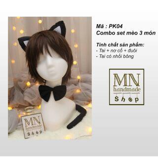 Combo phụ kiện mèo neko cosplay dễ thương