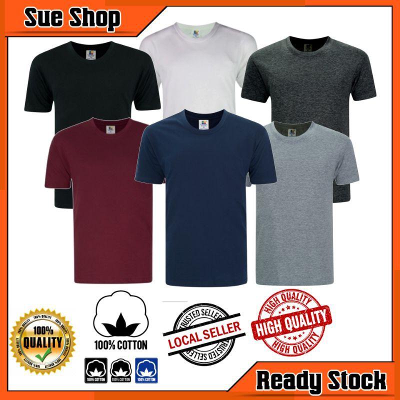 T Shirt Kosong Murah Plain Tshirt Baju Unisex Tee 100 Cotton