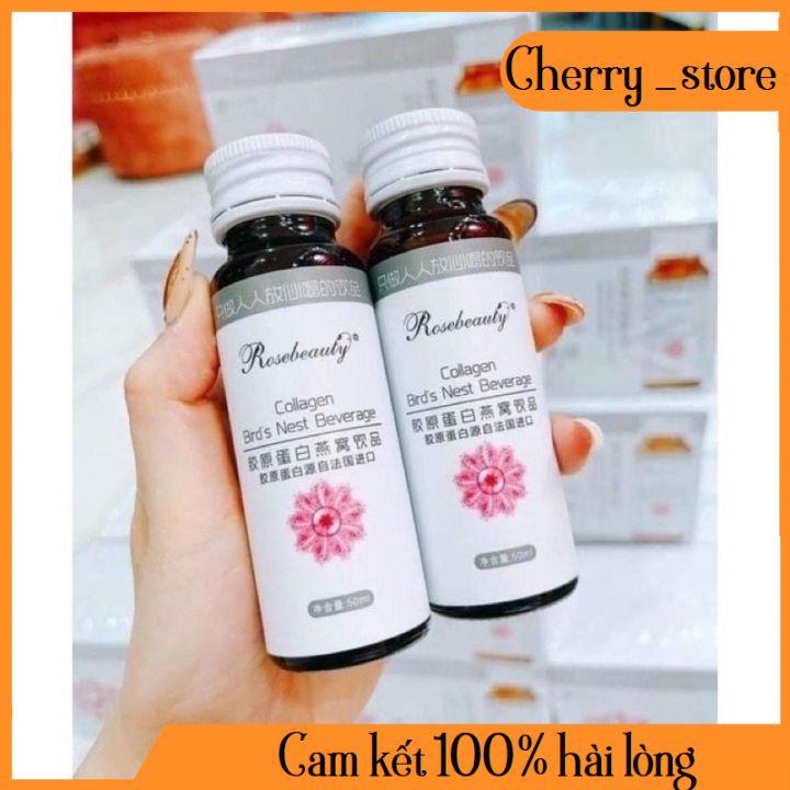 Collagen Rose Beauty Yến Trắng Da Chính Hãng (Trắng Hồng Rạng Rỡ X10)