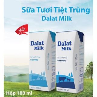 Sữa Tươi Tiệt Trùng Dalatmilk Hộp 180ml(48 hộp)