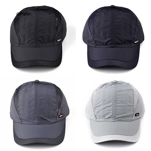 GEFX_Unisex Casual Mesh Quick Dry Adjustable Golf Sport Outdoor Baseball Cap Hat