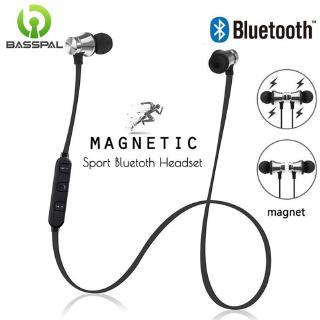 Tai nghe có dây Basspal XT11 thiết kế nhét tai từ tính kết nối bluetooth 4.0 giảm tiếng ồn cho hoạt động thể thao