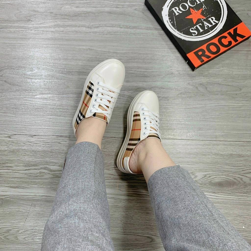 [MỚI & HÓT] Giày Sục thể thao  kẻ siêu xinh mã LM S00008
