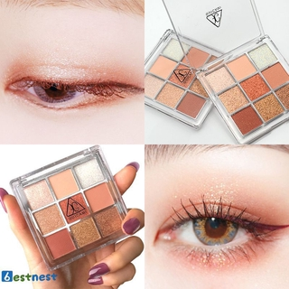 BN 9 Color Eye Shadows Pearlescent Matte Non-smoothing Makeup Eye Shadow Palette LDYLIST