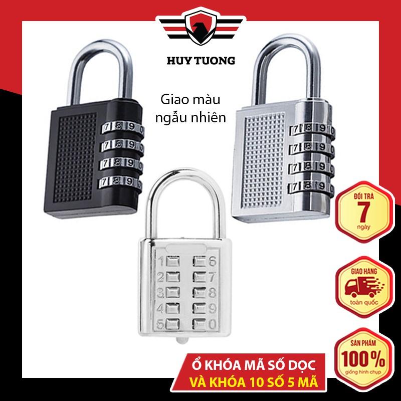 Ổ khóa mã số CJSJ 🚚 FREESHIP 🚚 chất liệu hợp kim inox chống gỉ, khóa bằng 5 số thiết kế tinh tế - Huy Tưởng