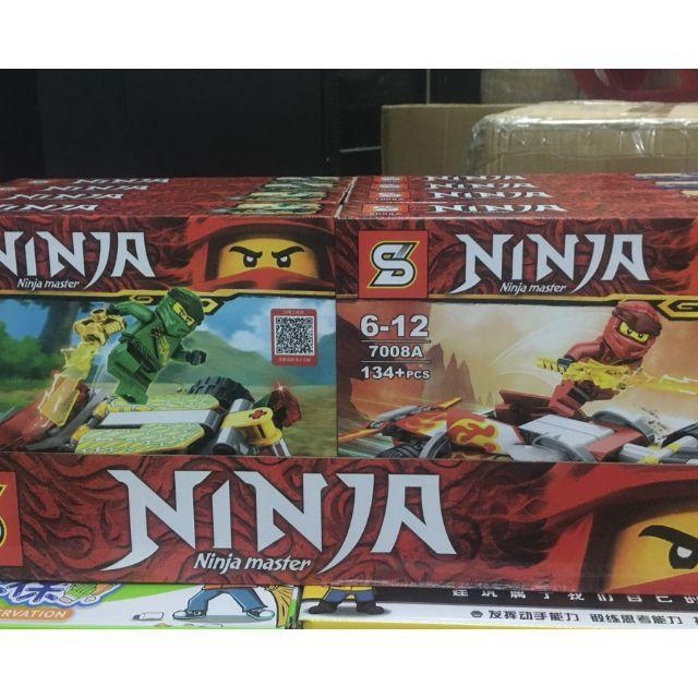Sỉ 8 hộp ninja (122 đến 141 chi tiết)