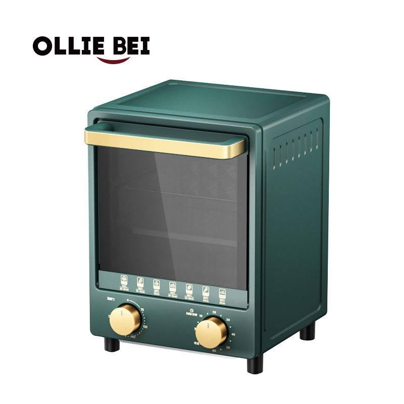 Olliebei Xuất khẩu lò nướng điện ban đầu của Anh Trang chủ nhỏ Bánh mì nướng Mini Lò nướng đa chức năng Lò nướng
