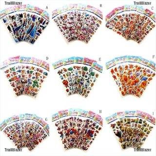 [TrailBlazer]5 Sheet Kawaii Funny Stickers Bubble Sticker For Kids Animals Small Sticker For