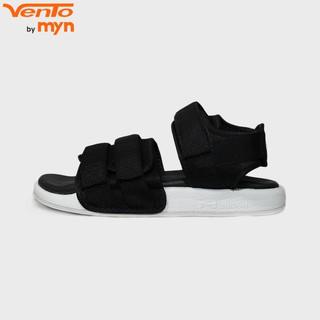 Giày Sandal Vento Nam Nữ - NV 1019 quai vải màu đen