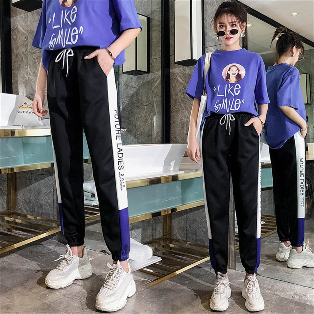 Women's Spring And Summer Loose Korean The Wild Harlan Casual Pants Sweatpants