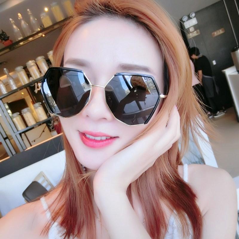 Kính mát kính râm nữ đa giác mới lạ độc đáo cá tính phong cách Hàn Quốc 2019 nhiều màu chống tia cực tím KM-1706