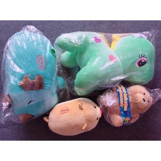 Combo 4 gấu bông New quà tặng bỉm Huggies