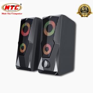 Loa vi tính 2.0 cao cấp Bosston Z200 12W led RGB 7 màu Âm thanh cực hay (Đen) - Hãng phân phối chính thức