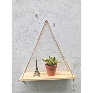 Kệ gỗ treo tường dây thừng MỘC/ decor trang trí nhà cửa