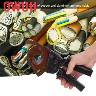 Owuh Crimping Pliers J40A 300mm² Ratchet Cable Cutter Clamp Multifunction Hand Tool For Professional Heavy Dut