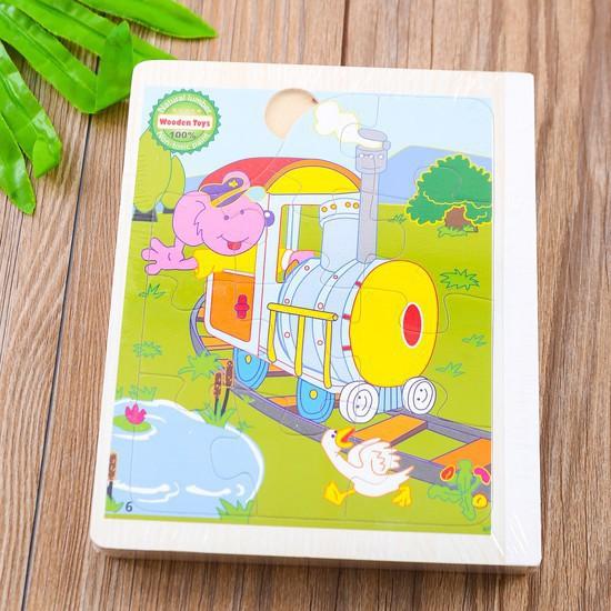 [FLASH SALE] Sách Gỗ 6 Trang Ghép Hình Cho Bé