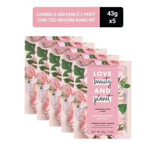 Combo 5 Kem ủ Love Beauty And Planet cho tóc nhuộm rực rỡ 43g