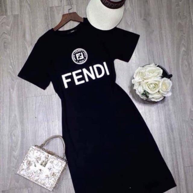 Váy phông suông Fendi