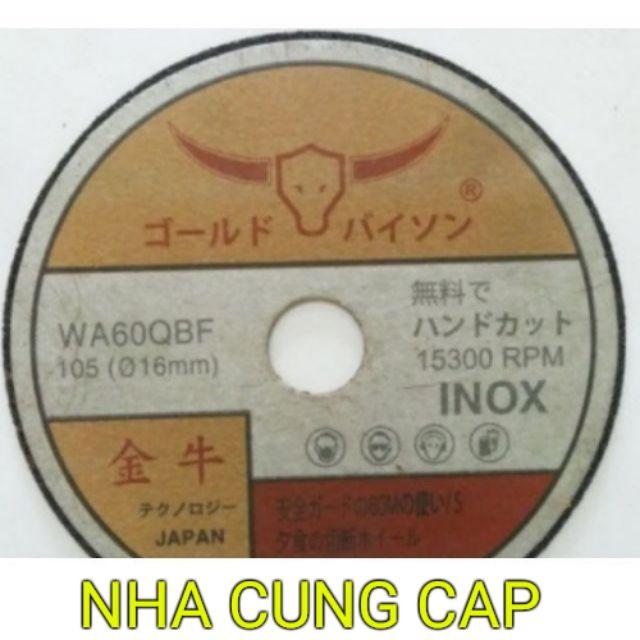 (GIÁ HỦY DIỆT) ĐÁ CẮT THÉP, INOX JAPAN LOẠI 100mm