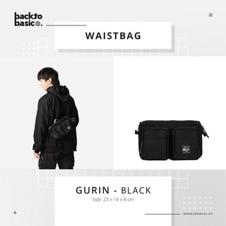 Túi bao tử – Túi đeo hông Back To Basic – Gurin màu đen