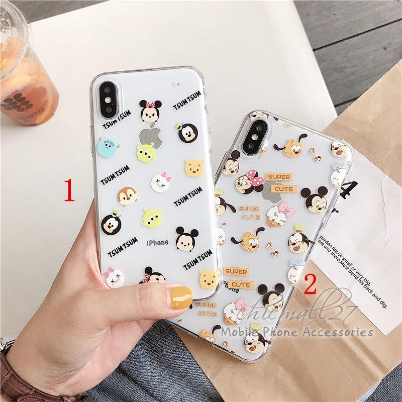 Cute Cartoon Mickey Clear Casing Vivo V5 Lite V5s V5+ V9 V11i Y71 Cover Case