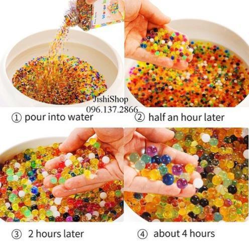 đồ chơi hạt nở nhiều màu sắc
