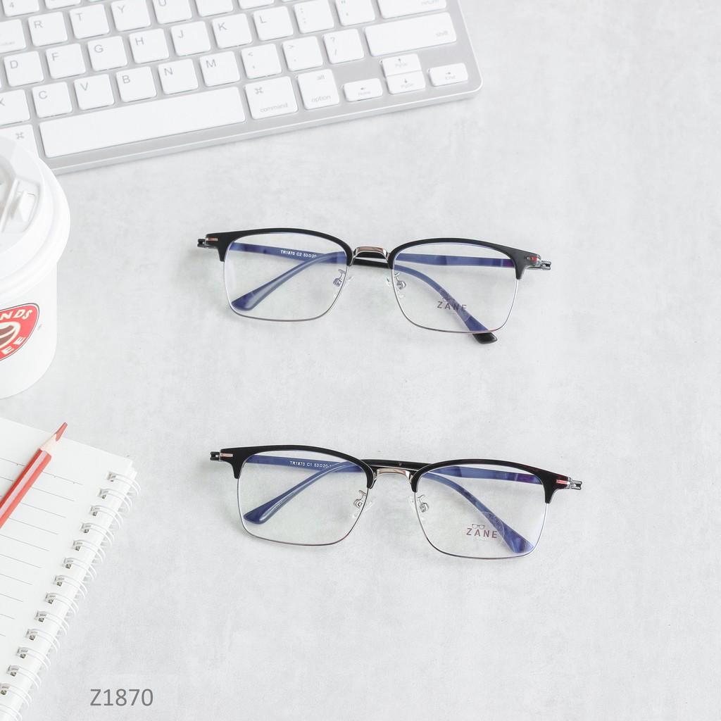 [LẮP SẴN CẬN] – Kính cận cho nam mắt chữ nhật, kính nửa viền kim loại Z1870
