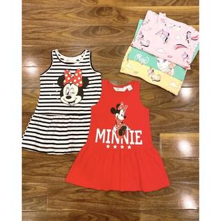 Váy HM cotton hoạ tiết Mickey, Pony, Elsa cho bé gái cực xinh