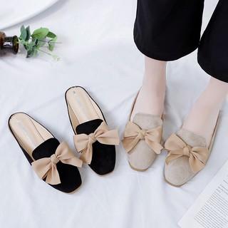 [Mã FAMAYWA giảm 10k đơn từ 50k] Free ship Giày búp bê nữ / giày bệt nữ thắt nơ 2 màu dễ thương