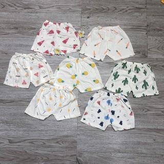 Quần đùi chất cotton giấy mềm họa tiết xinh xắn dễ thương cho bé yêu (lẻ 1 cái)