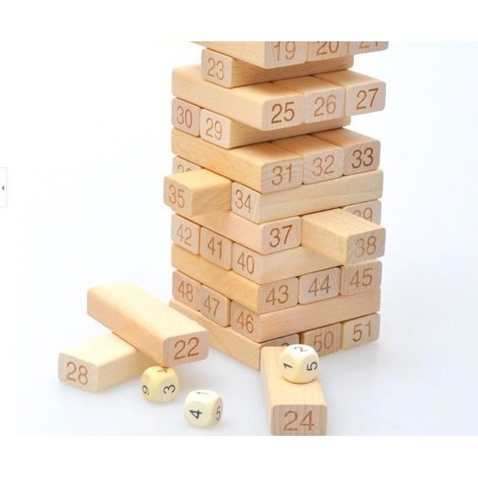 TRÒ TRƠI rút gỗ 54 thanh - ĐỒ CHƠI THÔNG MINH CHO BÉ