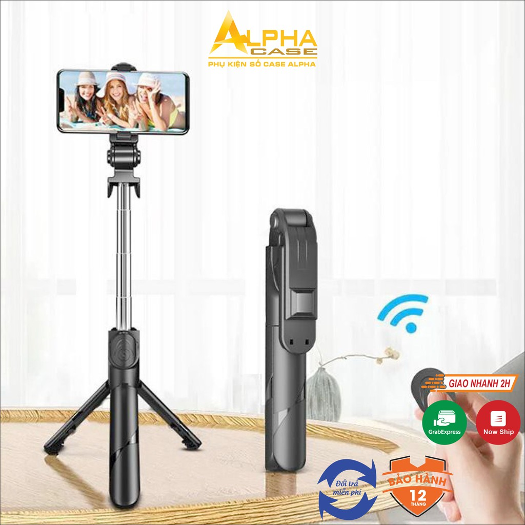 Gậy chụp ảnh selfle bluetooth thông minh XT-02, Giá đỡ điện thoại hỗ trợ livestream  casealpha