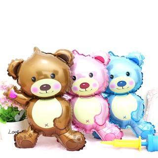 NBY❤❤Lovely Children's Bear Toys Foil Balloons Cartoon Birthday Wedding