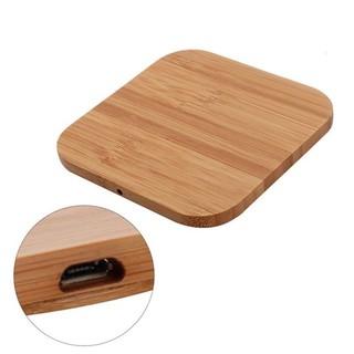 Đế sạc không dây 10w bằng gỗ