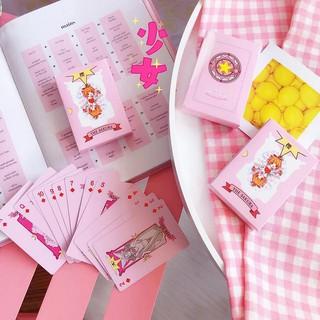 Bộ bài sakura hồng dễ thương