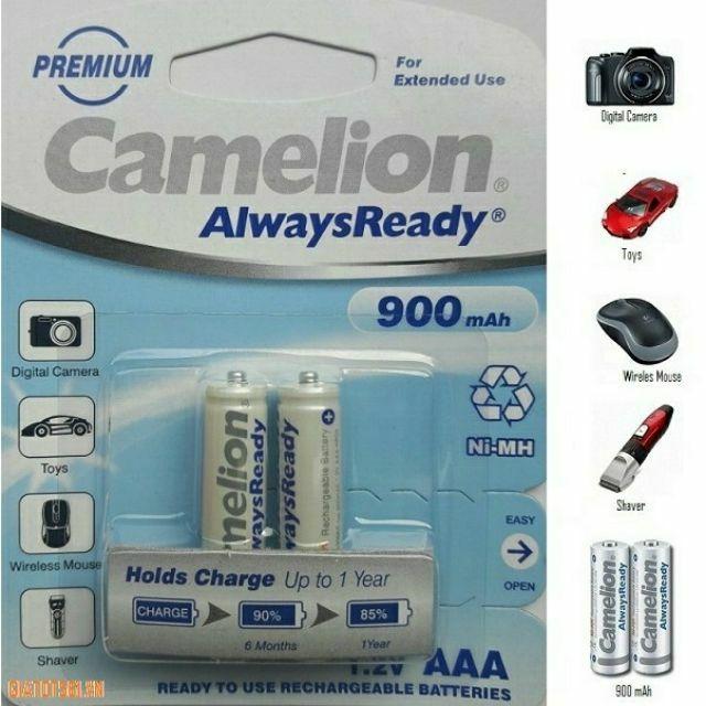 Pin sạc AAA Camelion 900 mAh vỉ 2 viên ( 900mah )